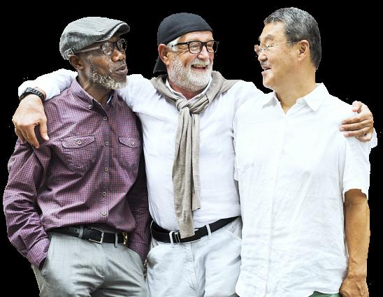 elderly men standing